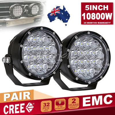 5''10800W ROUND CREE LED BLK Driving Work Light Spot light Offroad 4WD HID Truck