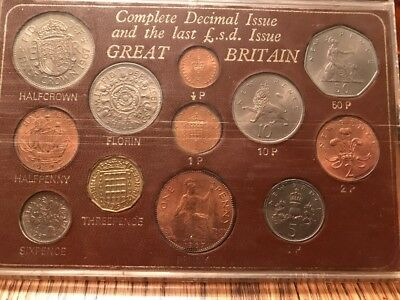 Great Britain Complete Decimal Issue and Last £.s.d. Issue 12-Coin Set