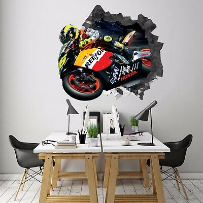 3D Motorcycle 72 Wall Murals Stickers Decal breakthrough AJ WALLPAPER AU Kyra
