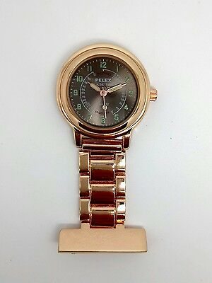 nurse beauticians fob watch rose gold by Pelex F113