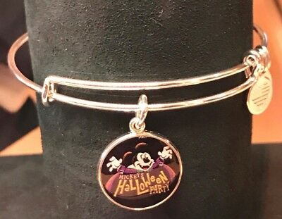Disney Alex and Ani SILVER Bangle Bracelet Mickey's Halloween Party Exclusive