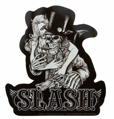 Official Slash Skeleton Vinyl sticker (includes Free Badge Of Your Choice)
