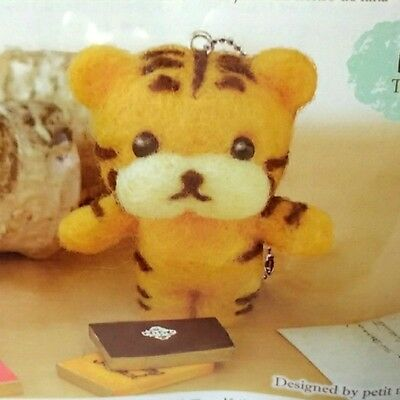 Japan Felt Daiso Kit Wool Animal Needle Tiger Felting S F New 6 Patterns chain
