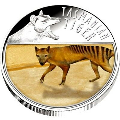 Niue 2011 $5 The Last Tasmanian Tiger  Silver Proof Lenticular Moving Image