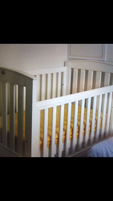 White Boori Baby Cot with Matress... Used.