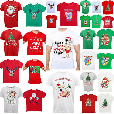 New Funny Audlt Xmas Christmas T Shirt Tee Mens Womens 100% Cotton Jolly Ugly