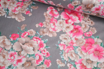 "Flowers 100% cotton fabric sold by the meter 63"" /160cm super width 1709094"