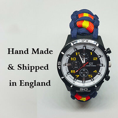Paracord Watch with Royal Anglian Regiment (RAR) Colours a Great Gift