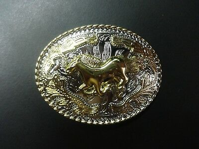 A New Belt Buckle -Runig Horse