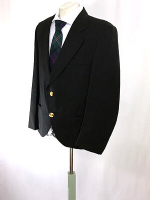 Bagpipers Black Argyll/ Day Jacket sz 42 Reg. by Edgar of Scotland 100% Wool