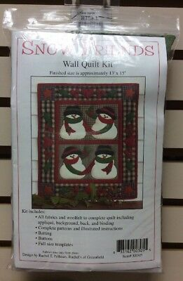 Snow Friends - Wallhanging Quilt Kit Batting Included Full Instructions - Fabric