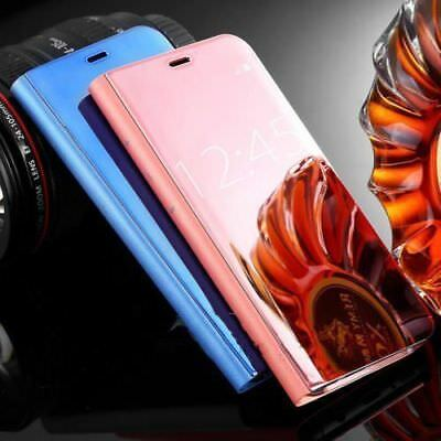 MIRROR Smart View Flip Hard Back Case Cover For All Samsung Galaxy S7 S7EDGE S8