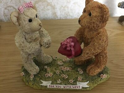 Sherratt and Simpson Teddy Bear Figure. For You With Love