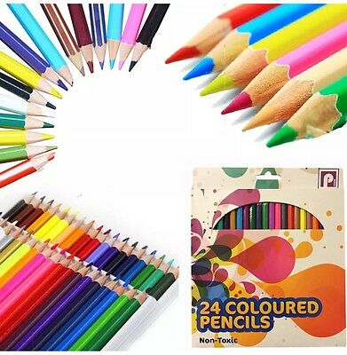 48Colour Pencils Art Artist Drawing Sketching Kids Students Coloured Pencils