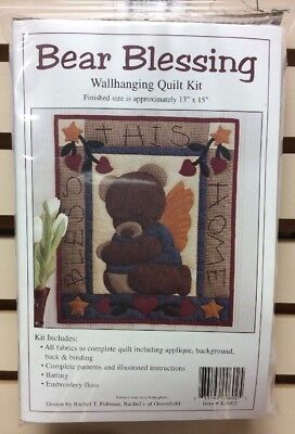 Bear Blessing Wallhanging Quilt Kit Batting Included Full Instructions - Fabric