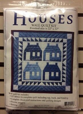 Houses Wallhanging Quilt Kit Batting Included Full Instructions - Fabric