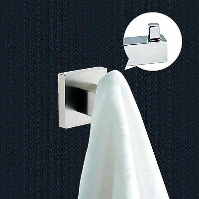 Mirror Polish 304 Stainless Steel Square Wall Mount Towel Robe Hook Door Hanger