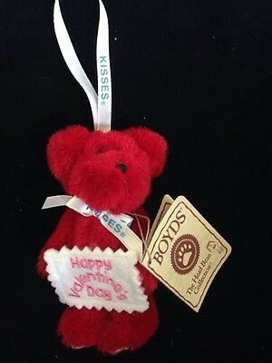 """Boyds Bear """"Valentine"""" Hershey Exclusive- 3.75"""" Bear Ornament- #94229HE-with Tag"""