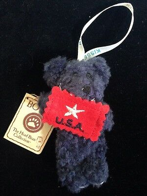 """Boyds Bear """"Liberty"""" Hershey Exclusive- 4"""" Bear Ornament-#94233HE - With Tag"""