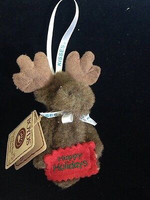 """Boyds Bear """"Chocolate"""" Hershey Exclusive- 4"""" Moose Ornament-#94235HE - With Tag"""