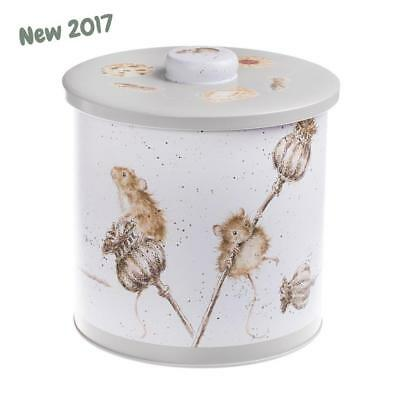 Wrendale Designs Traditional Biscuit Barrel storage tin Country mice Design NEW