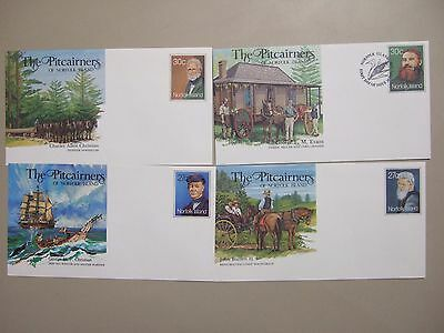 Four the PITCAIRNERS of Norfolk Is mint postal stationery envelopes