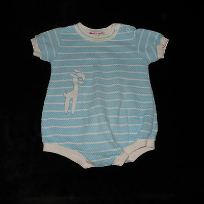 Adorable Vintage Health-Tex Stantogs Baby Boy's One-Piece Romper 12 Months Evc