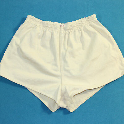 Vintage 40s/50s PHYSICAL EDUCATION White Athletic Military PE Sport Shorts L 34