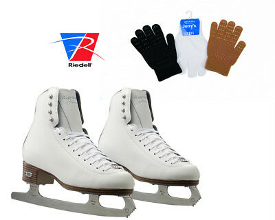 Riedell Diamond 33 Figure Skates with Blades Rated Single Jumps +Gloves Gripper