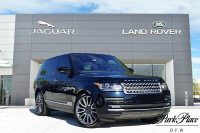 2016 Land Rover Range Rover  Autobiography Heated wood and leather steering whee 22 inch Wheels