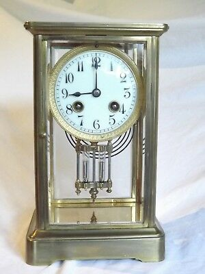 19c French Four Glass Clock.