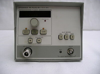 HP / Agilent Plug-In 83540A Option 002 (70dB) 2.0-8.4 GHz Sweep Oscillator