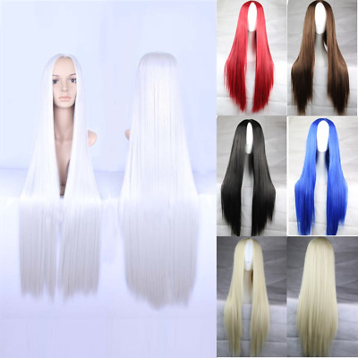 New 75cm Straight Sleek Long Synthetic Cosplay Costume Wigs Party Womens Gift