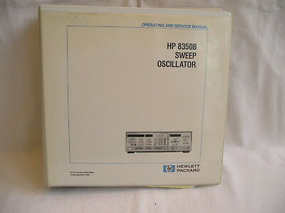 Original HP Hewlett Packard 8350B SWEEP OSCILLATOR OPERATING AND SERVICE MANUAL
