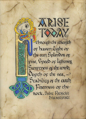 "Celtic Card Company MATTED PRINT 10"" x 8"" Saint Patrick's Breastplate"