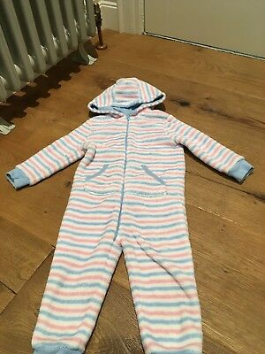 Girls Fleece All In One Pyjama Mothercare Aged 18-24 Months