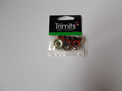 Trimits Safety eyes, AMBER, toy eyes, 7.5mm, 10mm, 12mm, 15mm, 18mm, 21mm, 24mm