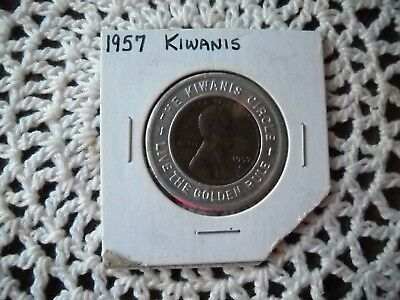 """1957 The Kiwanis Circle Penny """"live The Golden Rule"""""""