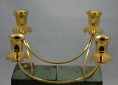 Partylite Brass Quartet Taper Candle Centerpeice Candle Holder