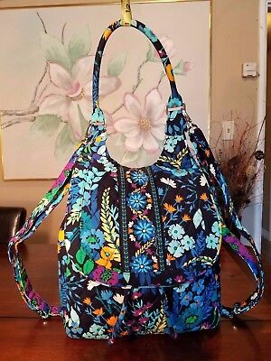 Vera Bradley Midnight Blue Convertible BACKPACK SHOULDER TOTE CROSSBODY BAG NWOT