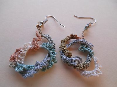 TATTED Aspen Earrings Silver Hooks NEW by  Dove Country Tatting