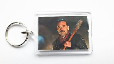 the walking dead negan double sided keyring