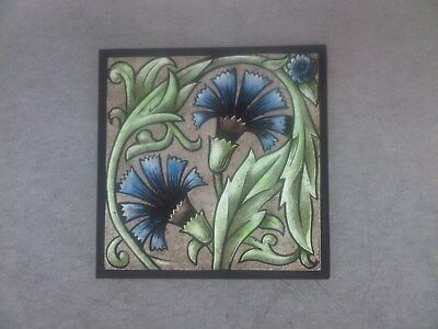 Beautiful Stained glass.FLOWER.Hand painted.Kiln fired.120 x 120 mm. New.