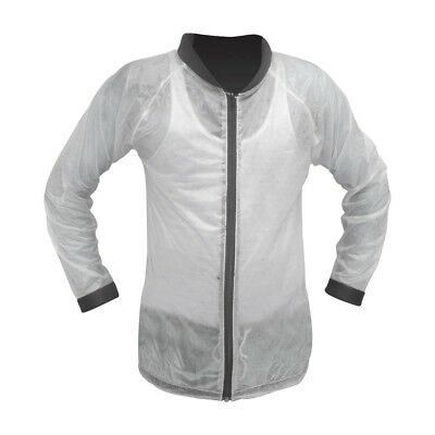 Rain 100% Waterproof Over MTB Jacket for Motorcycle Motorbike MX Scooter Clear