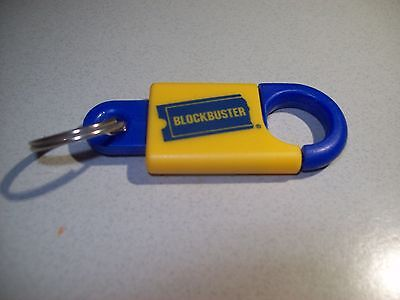 BLOCKBUSTER VIDEO -Promo Key Ring Keychain - NEW - Never Used