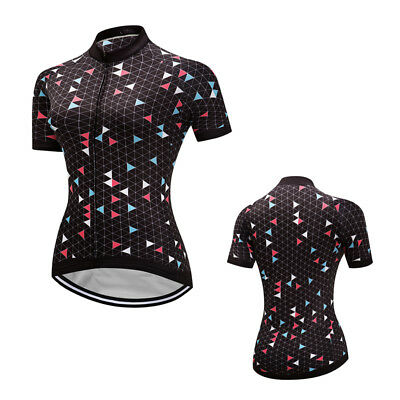 2017 New Womens Cycling Jersey Short Sleeve Breathable Bike Tops Bicycle Shirts