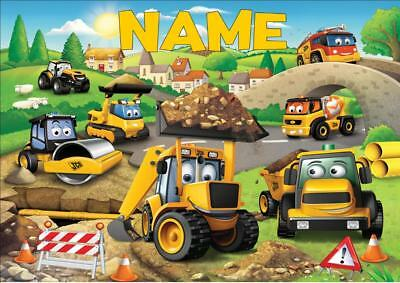 My First Jcb  Personalised Place Mat Dinner Mat Table Mat