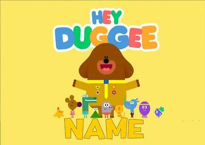 Hey Duggee Personalised Place Mat Dinner Mat Table Mat