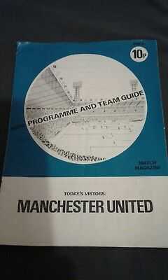 manchester united 1974/75 pirate programme