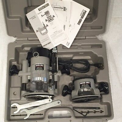 Porter Cable 690 Router KIT w/ FIXED BASE 1001 & PLUNGE BASE 6931 *NEW OPEN BOX*